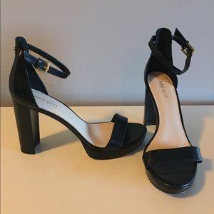 """Nine West Dempsey block heel platform sandals 4"""" 9"""